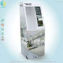 standing paper LED lamp display case for retail
