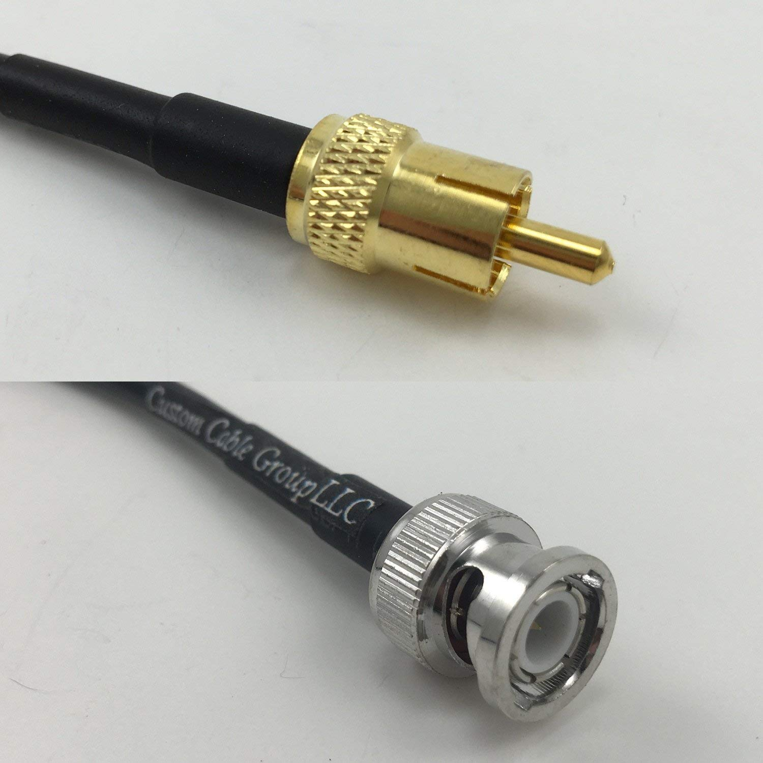 2 feet RG58 RCA MALE to RCA MALE Pigtail Jumper RF coaxial cable 50ohm