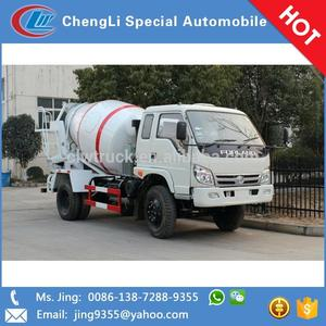 2015 factory supply RHD and LHD Foton 4m3 mini concrete mixer