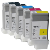 printer ink cartridge PFI-102 PFI102 PFI 102 MBK 0894B001 compatible for Canon IPF500 IPF510 IPF600 IPF610 IPF605