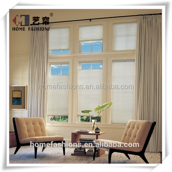 Yilian top down bottom up honeycomb shades curtains for Motorized top down bottom up shades