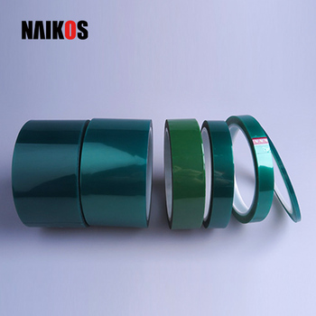 Spray Painting High Temperature Polyester Adhesive Masking Green PET LED Tape