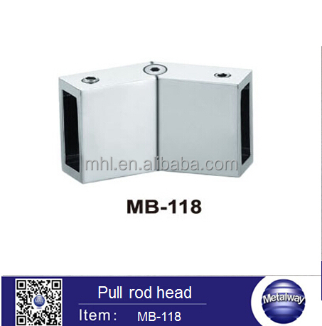 Shower Door Square Tube Pipe Connector Support Bar Connector