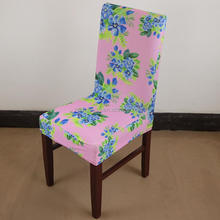 Printed flower splash computer office stretch chair cover,dining chair wedding banquet hotel elastic chair covers