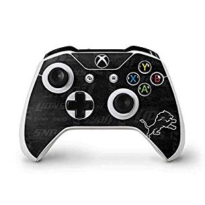 NFL Detroit Lions Xbox One S Controller Skin - Detriot Lions Black & White Vinyl Decal Skin For Your Xbox One S Controller