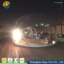 Transparent bubble tent with cabin rooms for hotel / inflatable outdoor camping clear bubble tent for sale