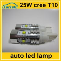 25w cree led bulbs T10 car stop light, brake lights with projector lens