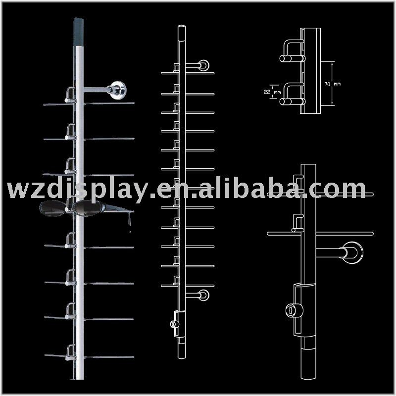 locking eyewear display rod