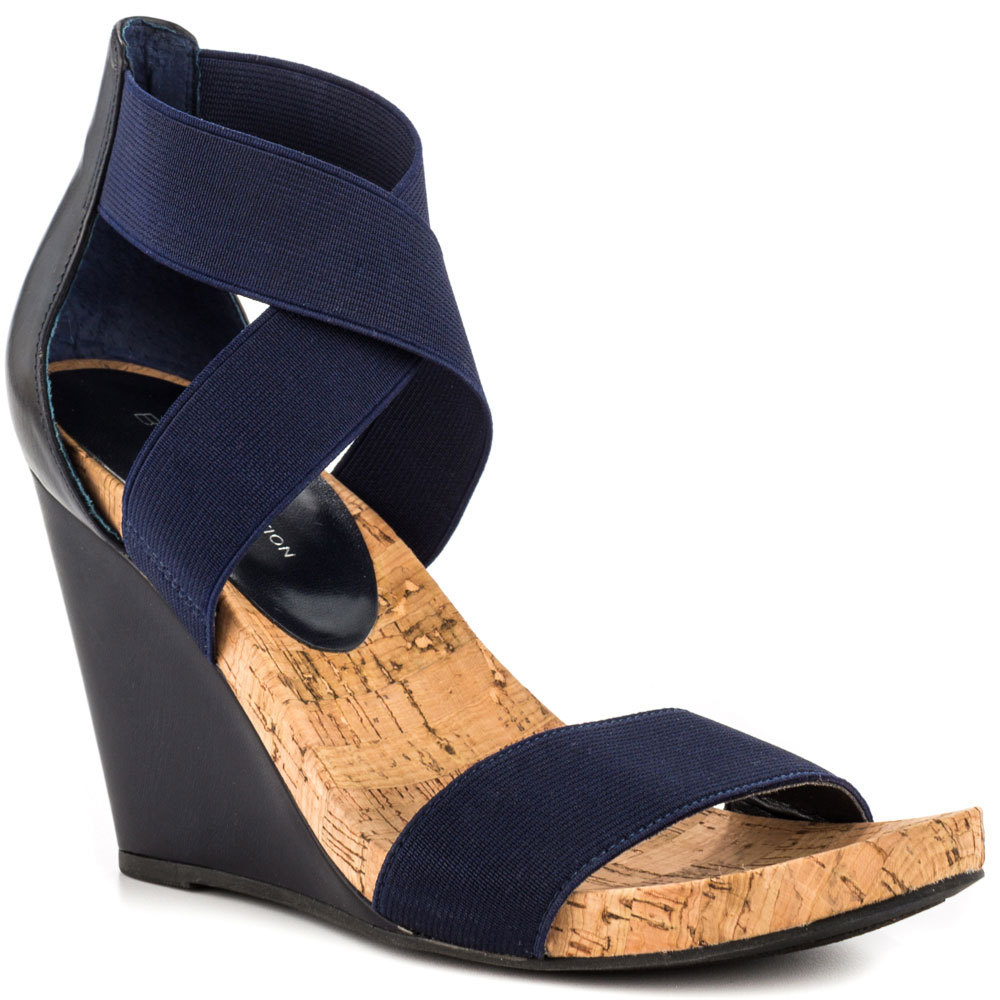 e1c2763f4c45 Buy Navy Blue Conmfortable Sandals Women Shoes Women Criss Cross Strap  Wedges Sandal Open Toe Sapatos Femininos 2015 Made-to-order in Cheap Price  on ...