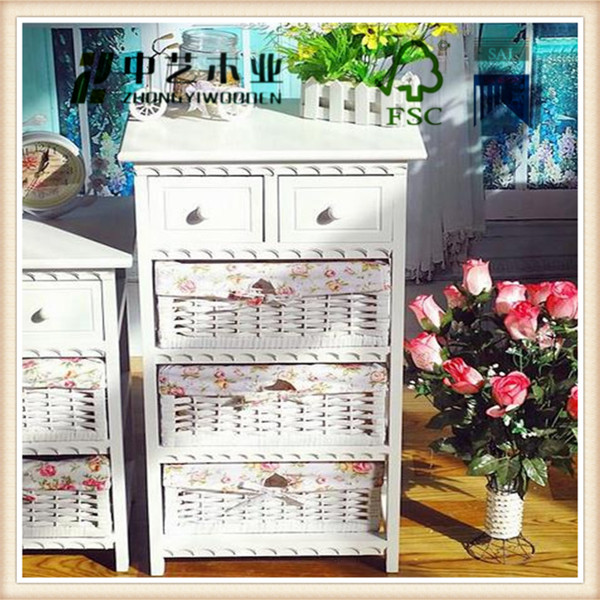 trade assurance solid hand made wood furniture 4 drawers cabinet