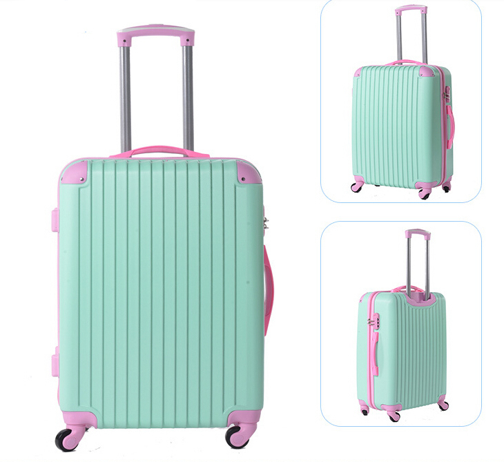 4-wheels Foldable Luggage Trolley Luggage Travel Luggage Girly ...