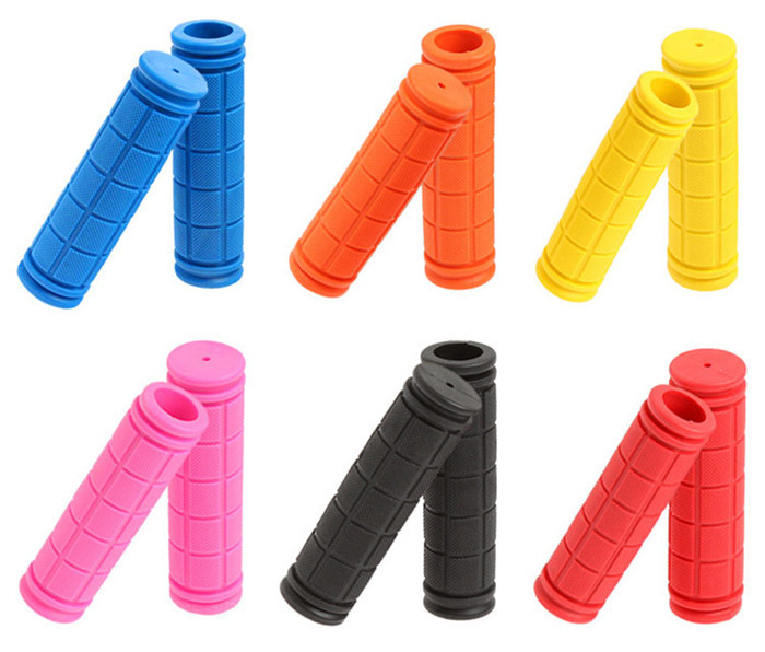 Hot MTB BMX Mountain Bike Bicycles Handlebar Grips Fixed Gear Fixie Handle Bar End Grips Soft Rubber Cover Bicycle Parts