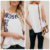 Tendency Vest Print T-shirt Summer T Shirts Embroider Leaf Women T shirt Wholesale Price