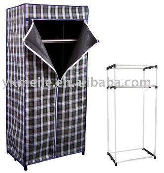 Canvas Metal Wardrobe Closet