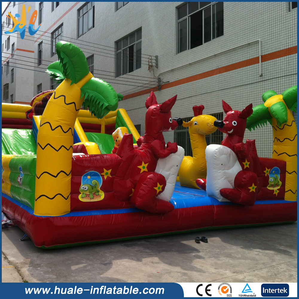 Popular Commercial Cheap Giant Koala Inflatable bouncer with slide for kids