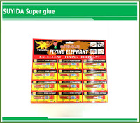 Suyida oem odm welcome hot sale cheap price quick dry 12pcs pack 3g cyanoacrylate adhesive