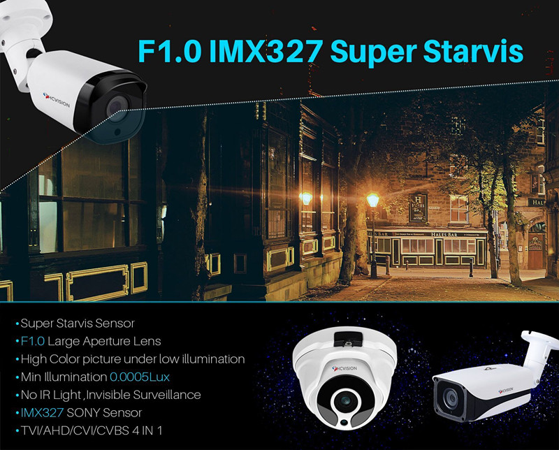 Super Starvis Full Color 4 in 1 Output 1080p Sony IMX327  Starlight Camera
