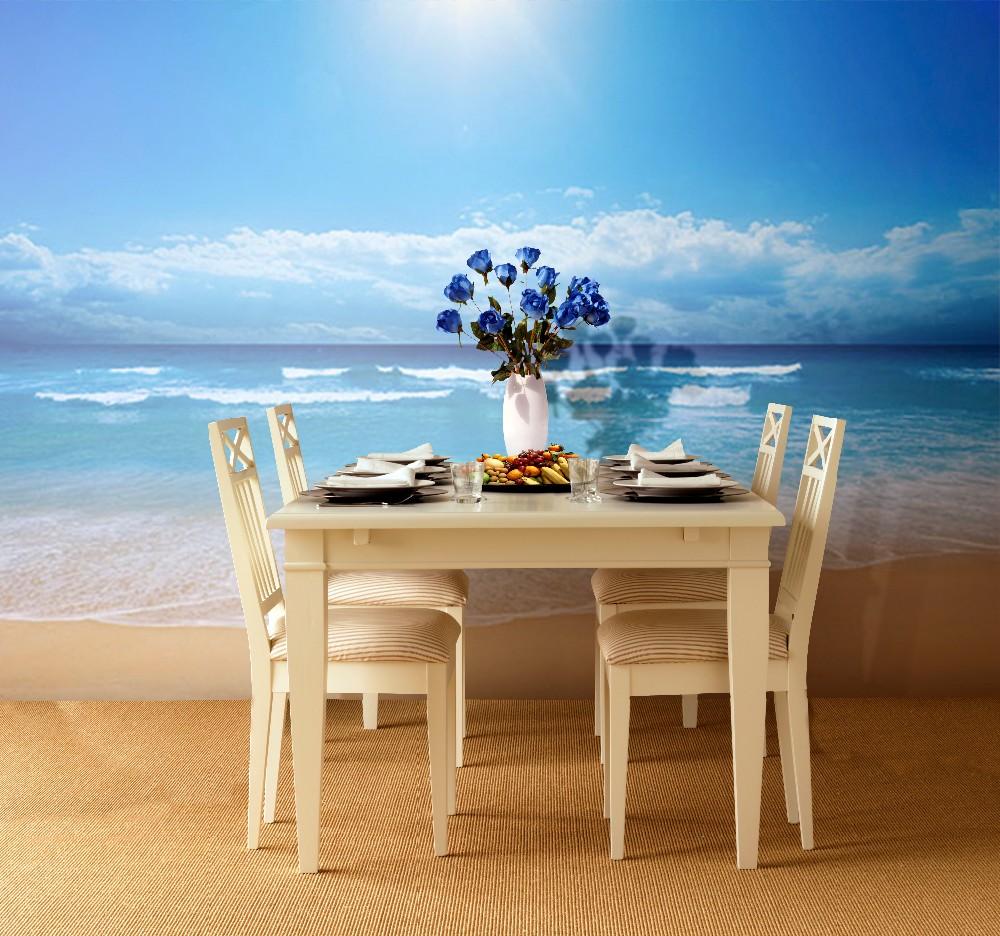 Papel pintado para paredes paisajes azul mar y playa for Papel pintado paisajes