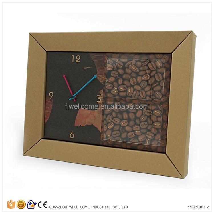 Barato Personalizada Diy Papel Reciclado Reloj De Pared Marco De ...