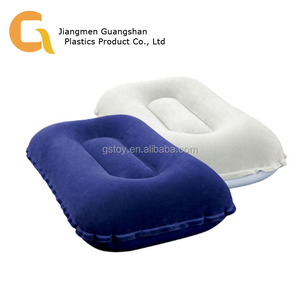 Hotel portable travel bed sleep flocking PVC inflatable pillow