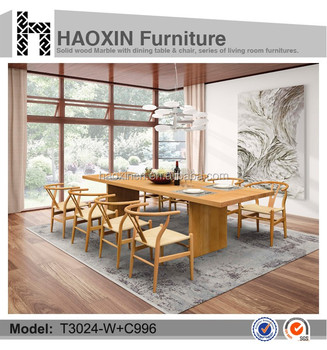 Solid Wood Midcentury Style Seater Dining Table Beech Wood - Solid wood mid century dining table