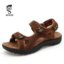 Handmade Men's Sandals Full Grain Leather Sandals Slippers Outdoor Men's Summer Shoes