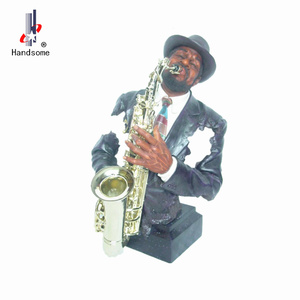 Handmade Polyresin Black Band Jazz Figurines Musician Statues