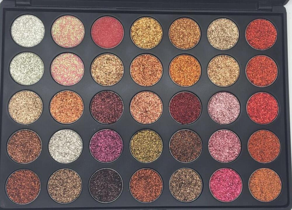 Professional Metallic Colors Eyeshadow Palette Makeup ...