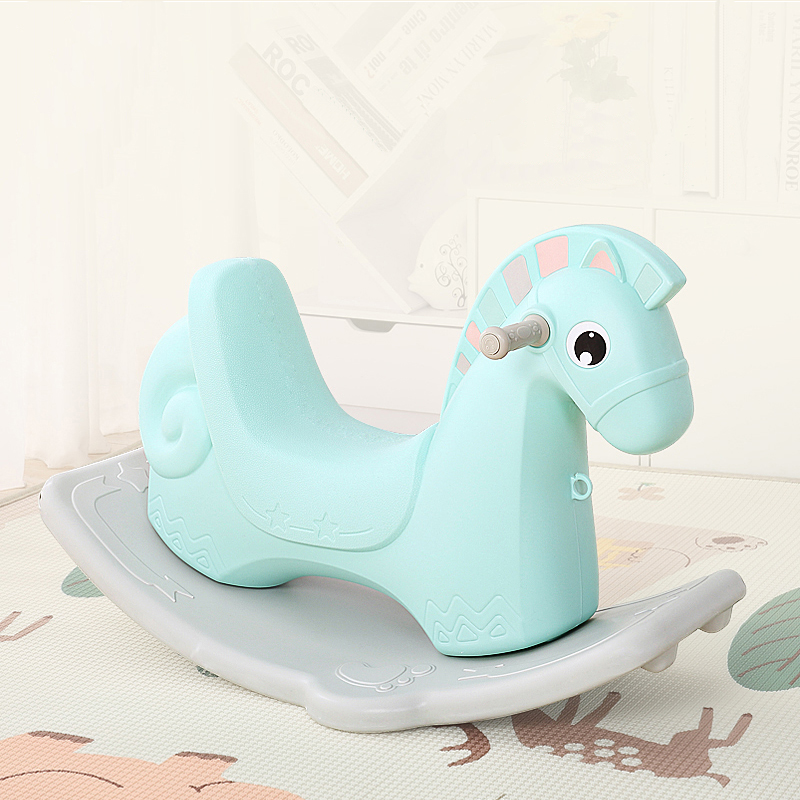 Ancient Rome Pink Plastic Indoor Rocking Horse Toy Made in China
