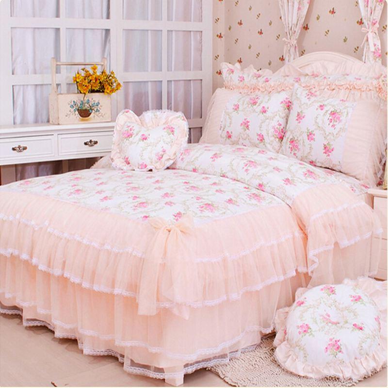 acheter luxe dentelle princesse couvre lit couette couette housse de couette. Black Bedroom Furniture Sets. Home Design Ideas
