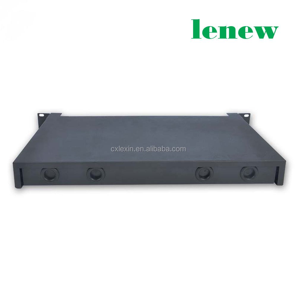 LC Optic ODF Distribution Frame Patch Panel With19'' 1U Rack Mount Enclosure