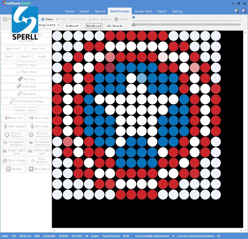 3D led ışık Matris APA102 SK9822 esnek ekran paneli 256 leds