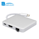 Thunderbolt Power Delivery usb c hub with ethernet adapter for macbook 2 Ports USB 3.0 hdmi hub