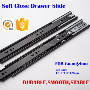 45mm Soft Closing Ball Bearing Drawer Channel - 16""