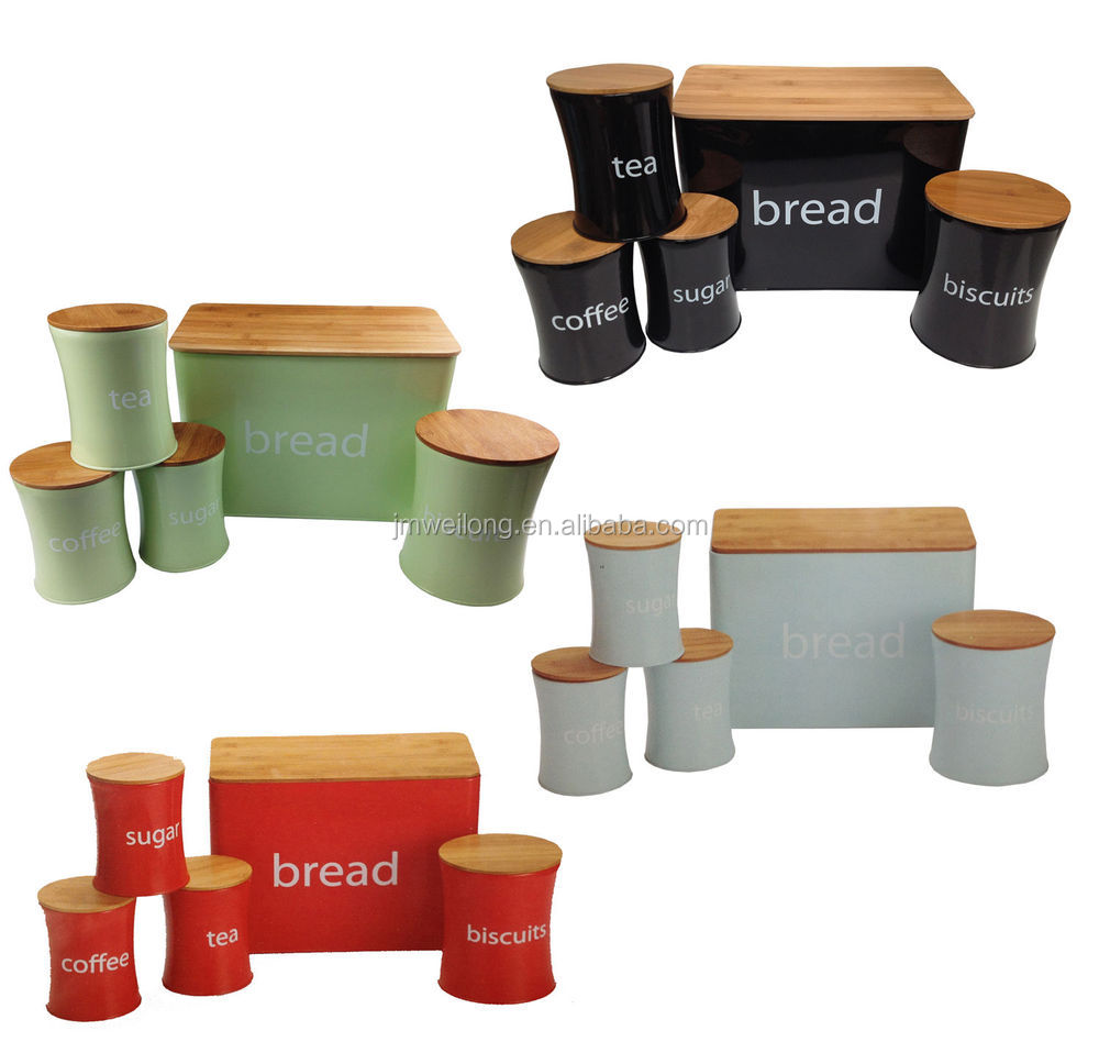 Bread Biscuits Tea Coffee Sugar Canister Set