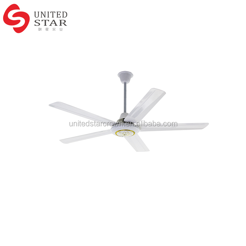 Dc Rechargeable Brushless Motor Powered Solar Ceiling Fan 5 blade