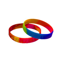 Free Sample Wristband Thin Cheap Customized Logo Rubber Blank Slap Silicone Bracelet