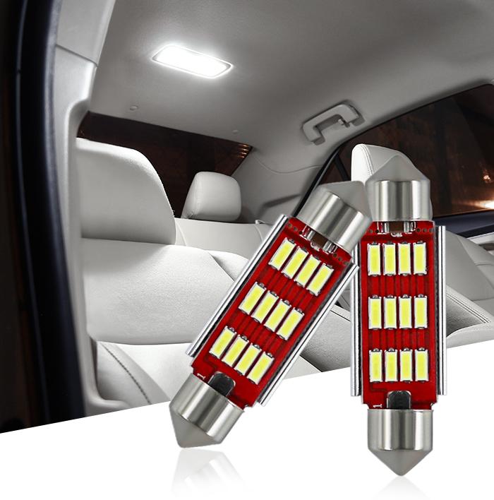 Car interior Dome Light Festoon C5/W 41/mm DC 12/V LED auto cupola lampada bianco