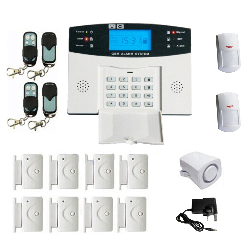 Draadloze GSM Alarmsysteem SMS Smart Kit LCD Display Inbreker Brand Gas Alarm Home Security Alarm Systeem 99 + 8 verdediging Zones