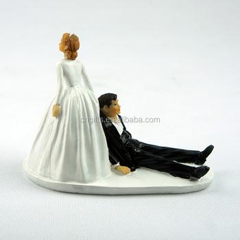 2015 Hot Lustig Harz Braut Und Brautigam Runaway Brautigam Figuren