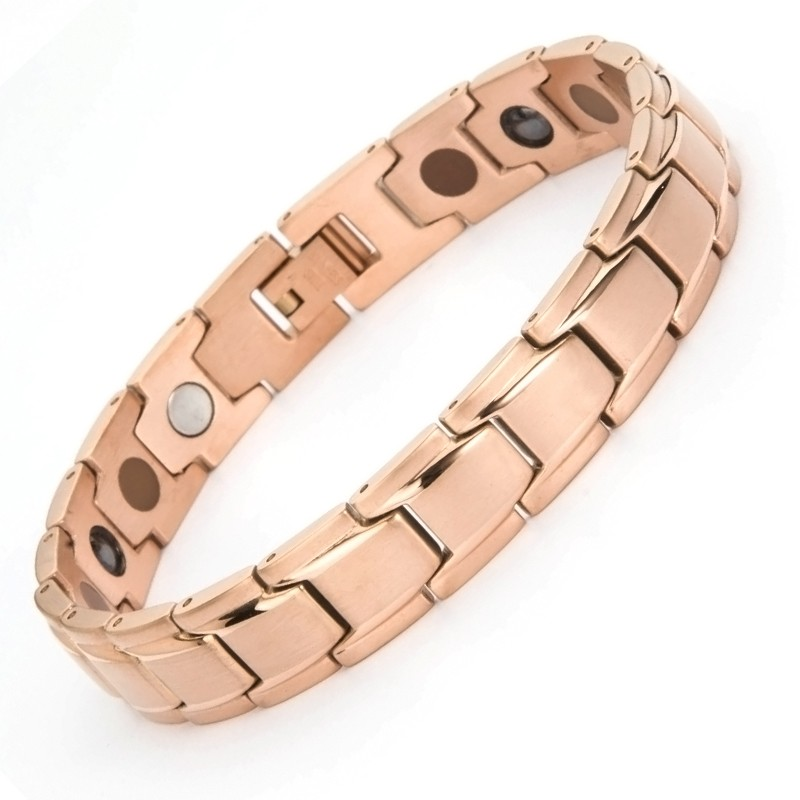 2017 charm rose gold germanium wristband