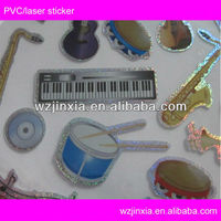 musican laser cut stickers for kids