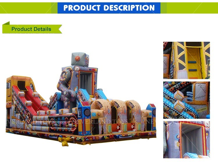 best quality inflatable fun city robot inflatable jumping castle for kids