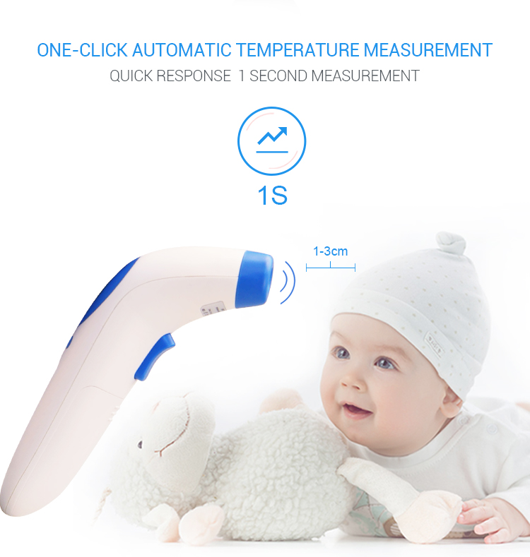 CE ROHS approved digital infrared thermometer forehead working thermometer baby temperature checking