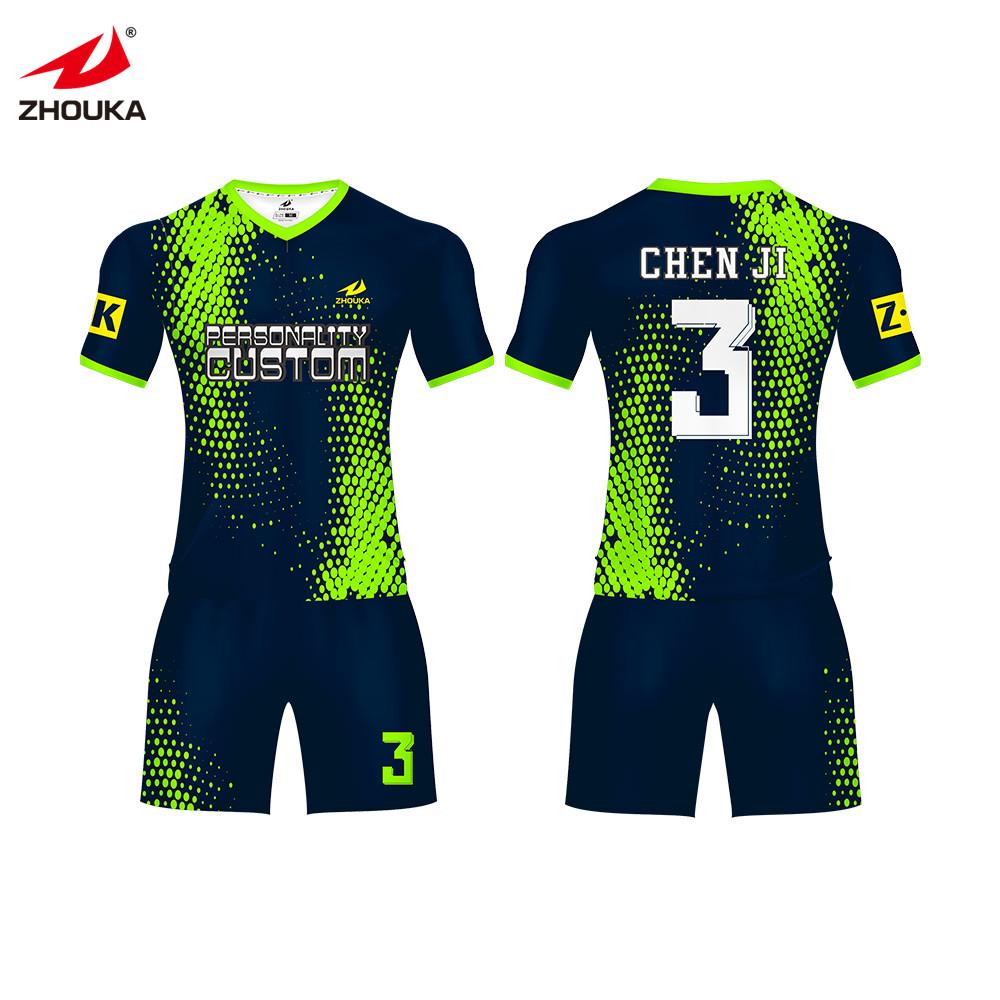 14f2b224a48 2019 new wholesale youth soccer uniforms sublimation football soccer  uniform jersey custom football uniform