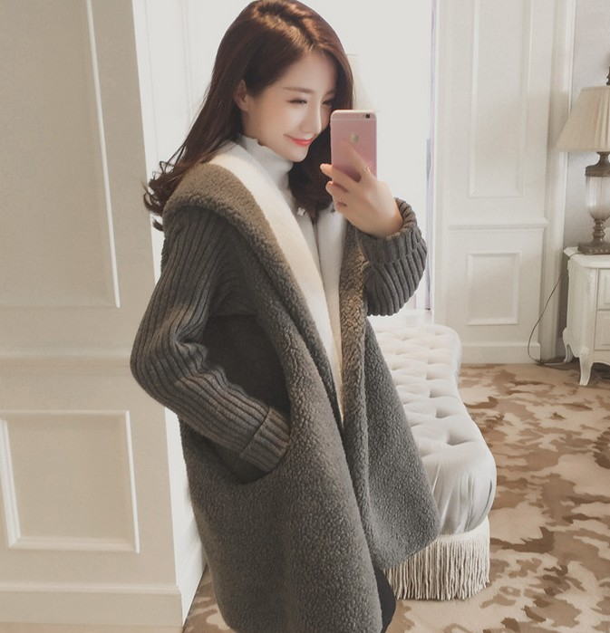 korea women winter coat cheap long fur coats women
