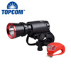 Red & Black LED Bike Light Multi-functional Bicycle Accessories