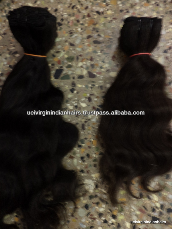 Grade 5a wholesale Natural and 100% unprocessed virgin indian hair