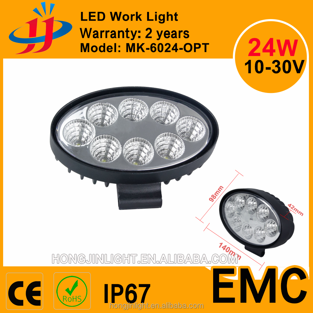 Wholesale 12v 24v 24w 5.5inch Oval led work light spot / flood beam cars atv IP67 led headlight
