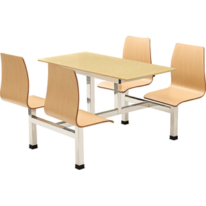 Commercial industrial canteen furniture 4 seats table and chair set in Malaysia